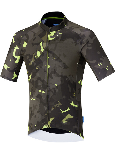 Shimano Breakaway - Maillot manches courtes Homme - vert/marron